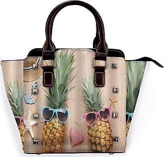Browncin Summer Beach Hippy Pineapple Wearing Sunglasses Sunhat And Blue Anchor Detachable Fashion Trend Ladies Handbag Shoulder Bag Messenger Bags