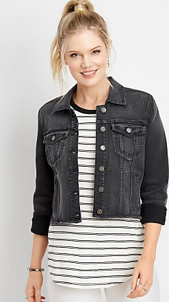Maurices Vintage Black Cropped Denim Jacket