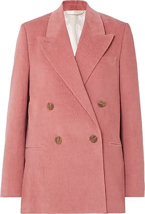 Acne Studios Double-breasted Cotton-blend Corduroy Blazer - Antique rose