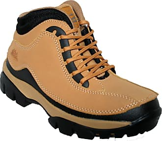 Groundwork MENS GROUNDWORK LEATHER UPPERS SMART/CASUAL LACE UP STEEL TOE CAP SAFETY BOOTS (UK13, 386 Honey)