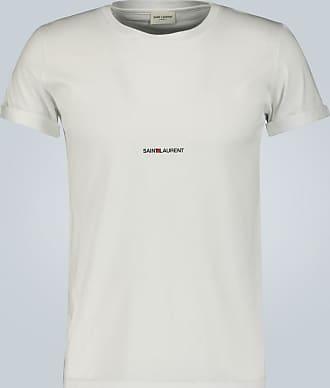 Saint Laurent T-Shirt Signature aus Baumwolle