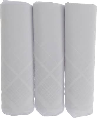 Universal Textiles Mens White Handkerchiefs Pack Of 3 (ONE SIZE) (WHITE)