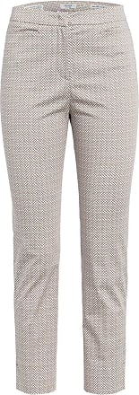 PESERICO 7/8-Hose - TAUPE/ WEISS