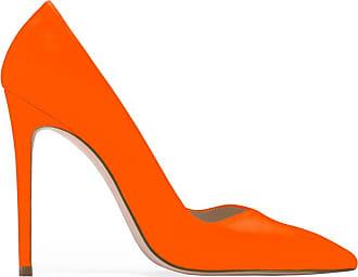 Stuart Weitzman Orange Neon Leather