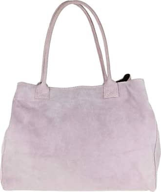 Girly HandBags Girly HandBags Expandable Italian Suede Leather Shoulder Bag (Lilac)