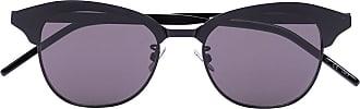 Saint Laurent Eyewear Armação de óculos redonda fosca - Preto