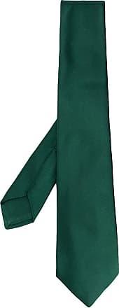 Kiton Gravata trançada de seda - Verde