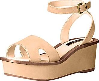 Kensie Womens Tray Platform Sandal, Nude, 7.5 M US