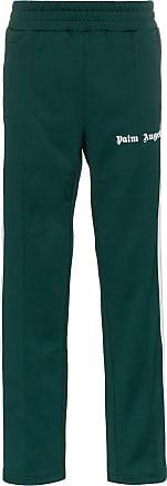 Palm Angels logo print stripe track pants - Green