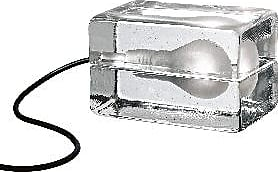 Design House Stockholm Bloc Lamp - Clear - Glass/White