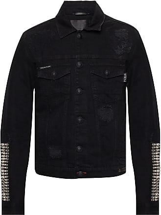 Philipp Plein Denim Jacket Mens Black
