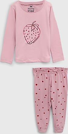 Hering Kids Pijama Hering Kids Longo Infantil Morango Rosa
