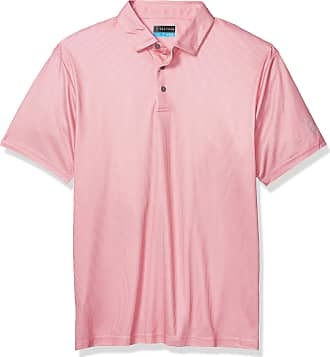 PGA TOUR Womens Big and Tall Short Sleeve Mini All Over Printed Polo Shirt