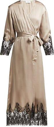 ICONS Art Cyclamen Silk Robe - Womens - Beige