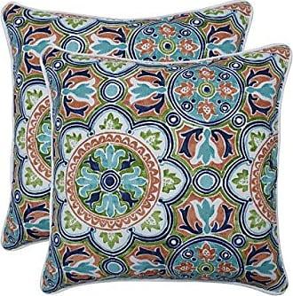 Pillow Perfect Outdoor | Indoor Lagoa Tile Flamingo 18.5-inch Throw Pillow (Set of 2), Blue