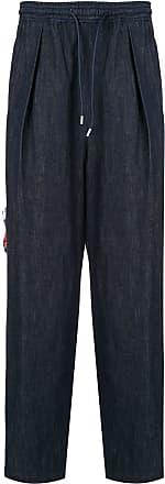 Yoshiokubo denim tuck trousers - Blue