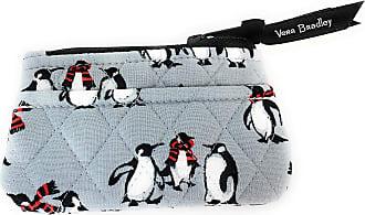 Vera Bradley Coin Purse Playful Penguins Gray