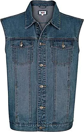 Roger Kent Herren Jeansweste Blue Stone 52