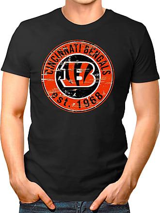 OM3 Cincinnati-Badge - T-Shirt | Mens | American Football Shirt | 3XL, Black