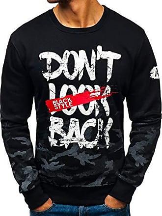 Herren Sweatshirt Rundhals Pullover Pulli Casual Print Aufdruck BOLF 1A1 Motiv