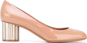 Salvatore Ferragamo flower heel pumps - PINK