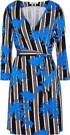 79d8bff7e223 Diane Von Fürstenberg Diane Von Furstenberg Woman New Julian Printed Silk-jersey  Mini Wrap Dress