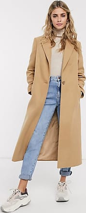 Miss Selfridge tailored maxi coat in camel-Tan