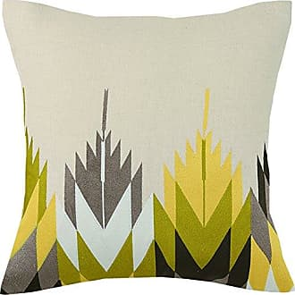 Trina Turk Cypress Embroidered Pillow, 20x20 Inch, Yellow