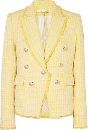 Veronica Beard Dickey Double-breasted Checked Bouclé-tweed Blazer - Yellow