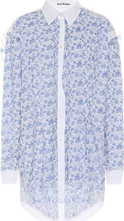 Acne Studios Floral chiffon and cotton shirt