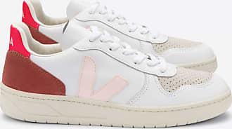 Veja Extra weiße Petale Rose Fluo Schuhe aus V-10 Leder - 38