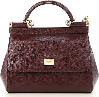 Dolce & Gabbana Shoulder Bag for Women On Sale, Wine, Leather, 2017, one size
