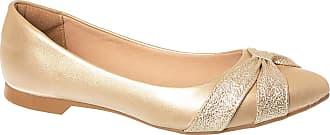 Constance Sapatilha Dourada com Laço Frontal