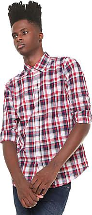 Red Nose Camisa Red Nose Reta Xadrez Vermelha