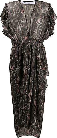 Iro ruffled sleeves metallic-sheen dress - Black