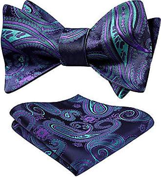 HISDERN Herren Floral Self Bow Tie Taschentuch Jacquard Hochzeit Einstecktuch Set