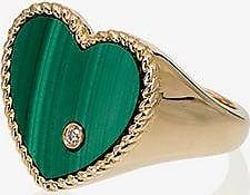 Yvonne Léon Womens Gold/green 18k Yellow Gold Emerald Diamond Ring