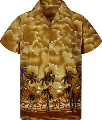 V.H.O. Funky Hawaiian Shirt, Dusty Beach, Brown, M