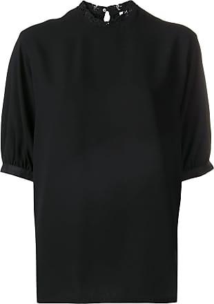 Calvin Klein lace-trimmed blouse - Black