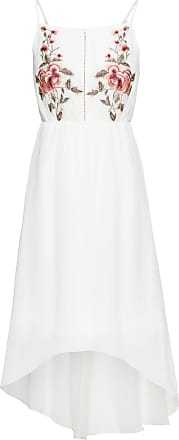 Bodyflirt Dam Klänning med blombroderi i vit utan ärm - BODYFLIRT 1d925487ad0b6