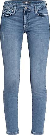 7 For All Mankind 7/8-Jeans PYPER mit Schmucksteinbesatz - Slim Illusion Countdown LIGHT BLUE