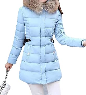 VITryst Womens Thicken Puffer Hooded Zipper Warm Mid Length Down Outwear Jackets with Pockets,2,X-Small