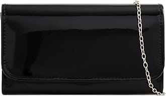 LeahWard Womens Patent Flap Clutch Bag Purses Party Evening Bags Handbag 250 (Black Patent Clutch)