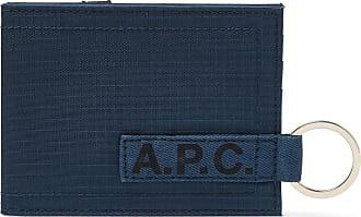 A.P.C. Logo-print Ripstop Billfold Wallet - Navy
