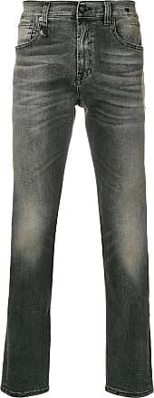 R13 stonewashed slim fit jeans - Grey