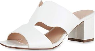 Scarpe Vita Women High-Heeled Sandals Mules Cut-Outs Croco 194112 White Croco UK 4 EU 37