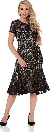 Roman Originals Women/'s Lace Flute Hem Midi Dress