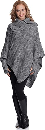 Merry Style Womens Poncho N4293 (Greymelange, One Size)