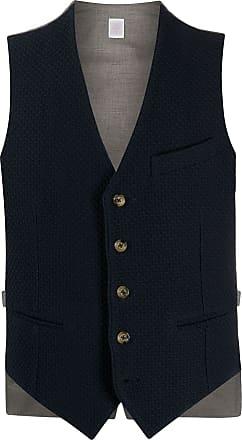 Eleventy v-neck buttoned waistcoat - Blue