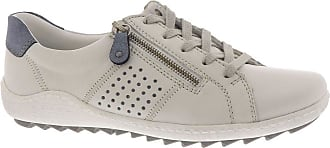 Remonte White Lace up Zip Flat Trainer 5